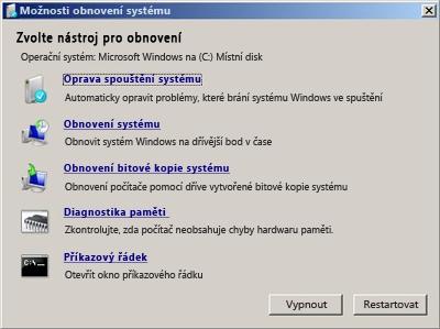 Jak spustit Windows když hlásí, že chybí bootmgr