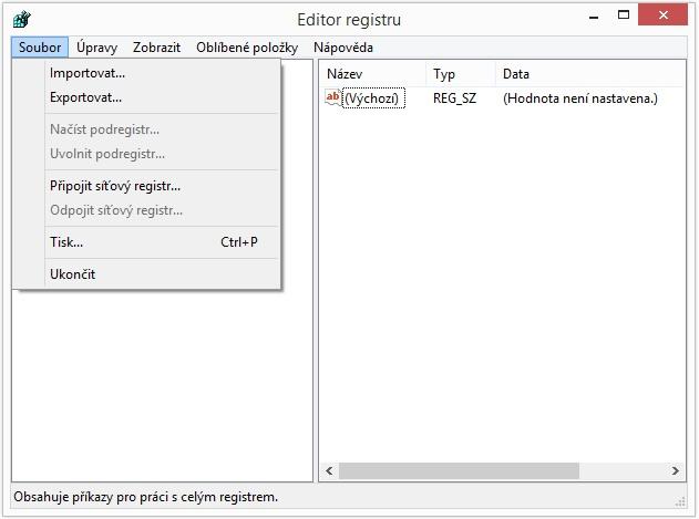 Jak zálohovat systémový registr Windows