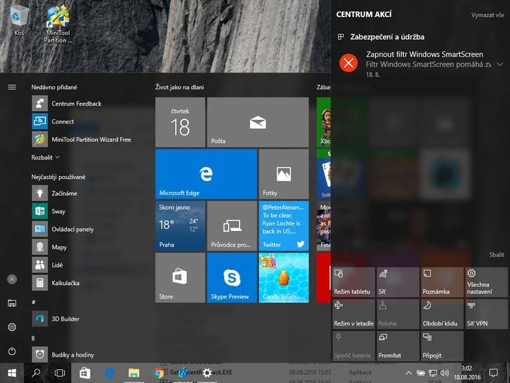 Jak zvýšit průhlednost hlavního panelu ve Windows