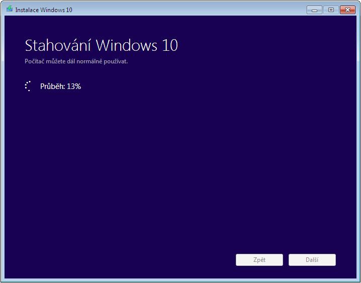 Instalace Windows 10 - Stahování Windows 10