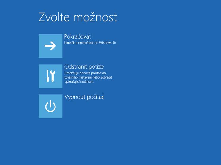 Spuštění počítače v nouzovém režimu ve Windows 10