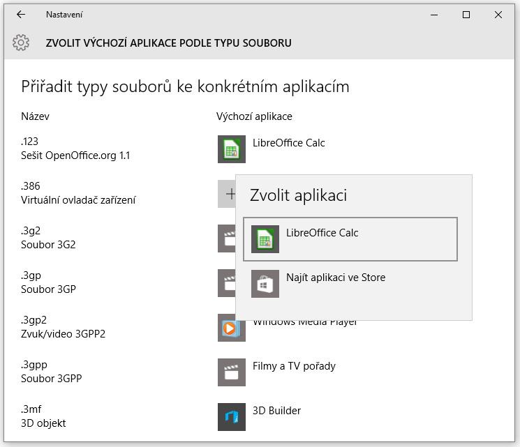 Jak nastavit výchozí programy ve Windows 10