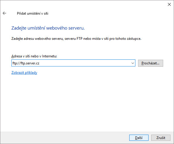 Jak připojit FTP server v Průzkumníku souborů