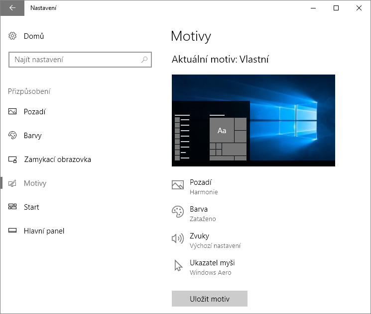 Jak změnit vzhled Windows 10