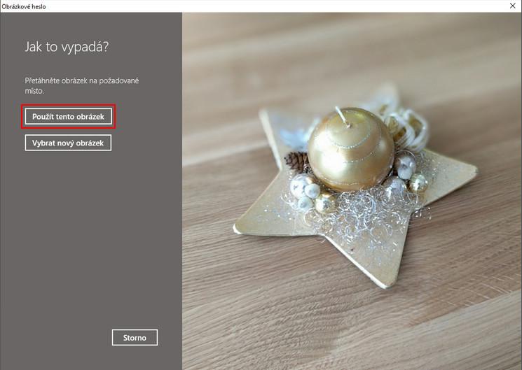 Přihlášení do Windows obrázkovým heslem