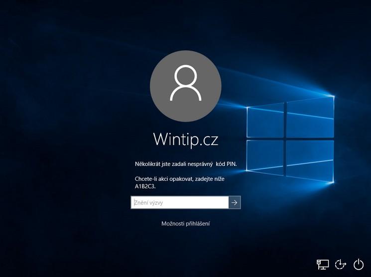 Přihlášení do Windows pomocí PIN kódu