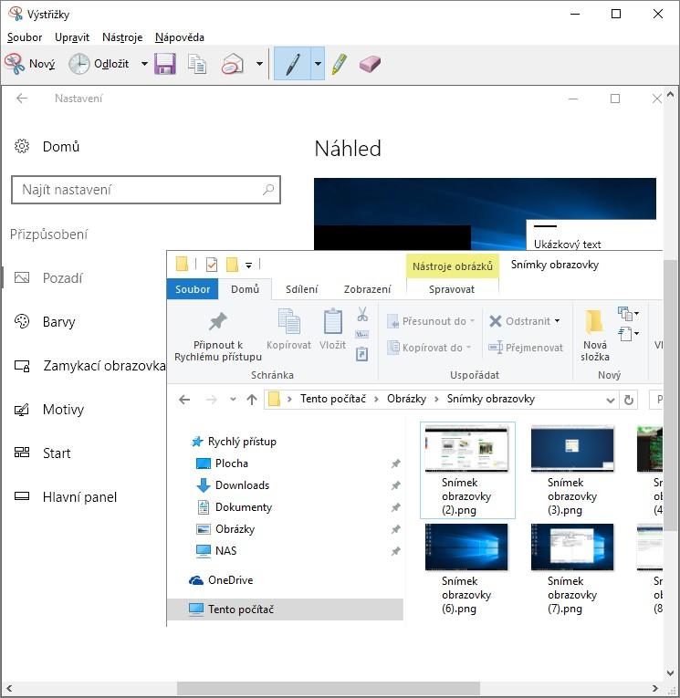 Jak udělat screenshot (printscreen) ve Windows 10