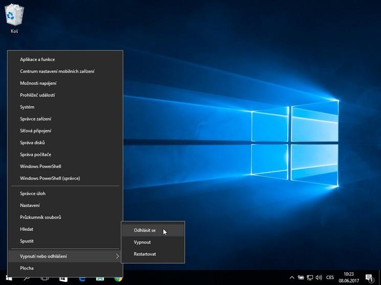 Všechny způsoby jak odhlásit uživatele z Windows 10