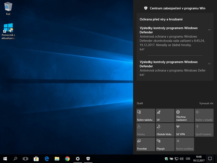 Nastavení notifikací ve Windows 10