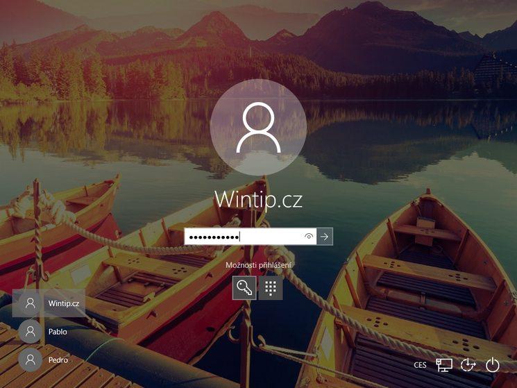 Jak přepnout z účtu Microsoft na místní účet